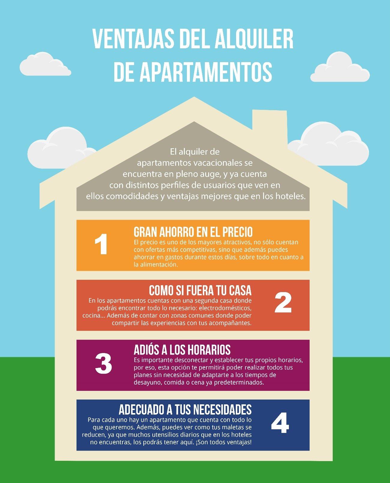 Ventajas de alquilar apartamentos